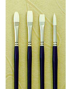 Silver Brush Bristlon Series 1901 Synthetic Hair - Flat - Size 8