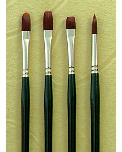 Silver Brush Ruby Satin - Series 2500 - Synthetic Bristle - Round - 4