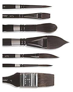 Silver Brush Black Velvet 3007S Script Size 04