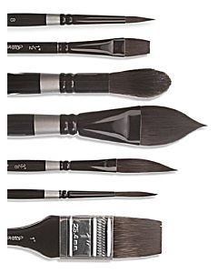 Silver Brush Black Velvet Aquarelle 1-1/4""