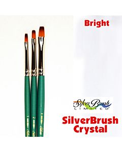 Silver Brush Crystal Series 6802 Synthetic - Bright - Size 4