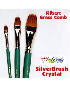 Silver Brush Crystal Series 6825 Synthetic - Filbert Grass Comb - Size 1/2""