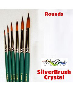 Silver Brush Crystal Series 6800 Synthetic - Round - Size 8
