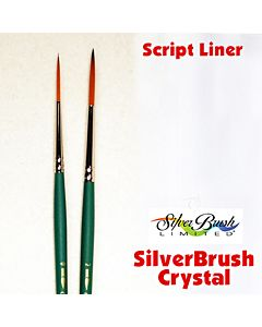 Silver Brush Crystal Series 6807 Synthetic - Script Liner - Size 0
