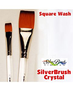 Silver Brush Crystal Series 6808 Synthetic - Square Wash - Size 1""