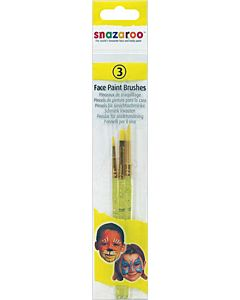 Snazaroo Pro Face Painting Brush 3 Pack