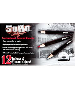 SoHo Urban Artist Professional Colored Pencil Set of 12 - Assorted Colors
