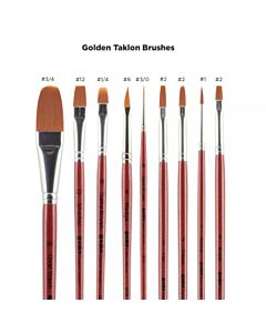 SoHo Urban Artist Brush - Long Handle - Golden Taklon - Flat - Size 4