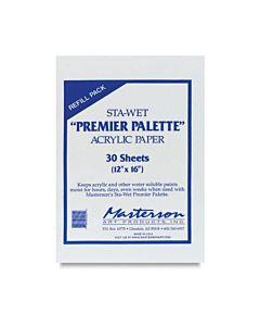 Sta-Wet Premier Palette - Paper Refills Pack of 30