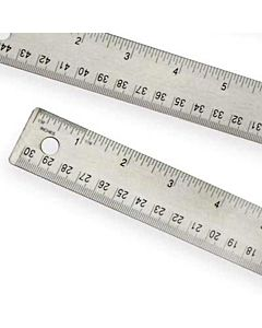 Steel Corkback Ruler 15""