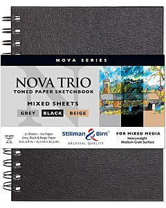 Stillman & Birn Nova Series Trio Sketchbook - Wirebound - 6x8
