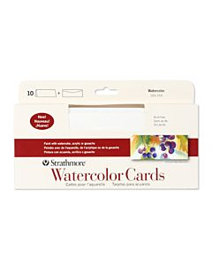 Strathmore Watercolor Card/Envelope 10 Pack 3.8x9 - White