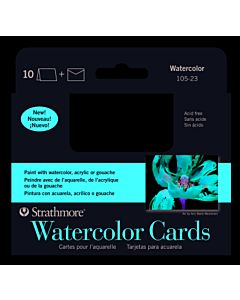 Strathmore Watercolor Card/Envelope 10 Pack - 3.5x4.8