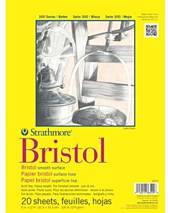 Strathmore 300 Series Bristol Smooth 9x12
