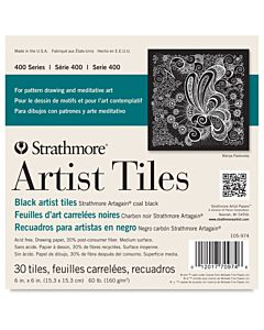 Strathmore 400 Series Art Tiles Black 30 Pack - 6x6