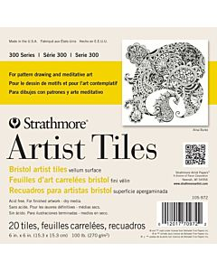 Strathmore 300 Series Bristol Board Art Tiles 20 Pack 6x6
