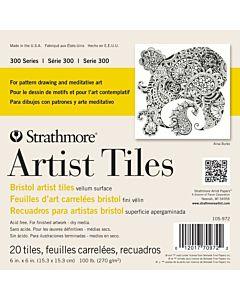 Strathmore 300 Series Bristol Board Art Tiles 20 Pack 4x4