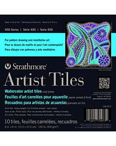 Strathmore 400 Series Watercolor Art Tiles 10 Pack - 4x4
