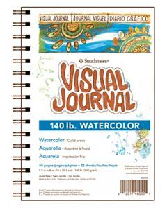 "Strathmore 400 Series Watercolor Visual Journal 140lb - 5.5x8"""