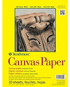 Strathmore 300 Series Canvas Paper 10 Sheets 6x6