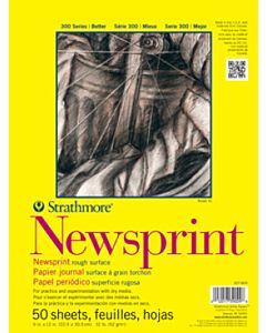 Strathmore 300 Series Newsprint Pad 50 Sheets - Smooth - 18x24