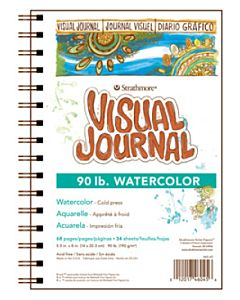 Strathmore Watercolor Visual Journal (90lb.) - 9x12""