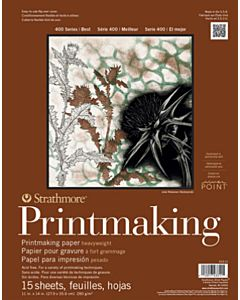 Strathmore 400 Series Heavyweight Printmaking Pad - 11x14