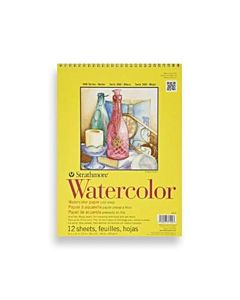 Strathmore 300 Series Spiral Watercolor Pad 9x12""