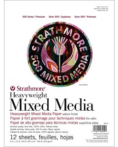 Strathmore 500 Series Heavyweight Mixed Media Pad - 9x12