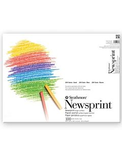 Strathmore 200 Series Newsprint Pad 100 Sheets - 18x24