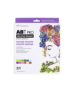 Tombow ABT Pro Markers - 12 Set Nature Colors