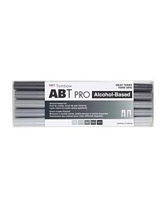 Tombow ABT Pro Markers - 5 Set Gray Tones