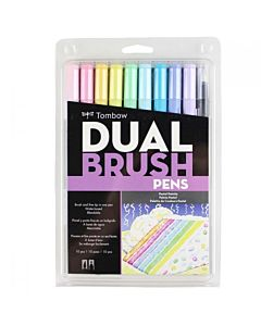 Tombow Dual Brush Pen 10 Pastel Set