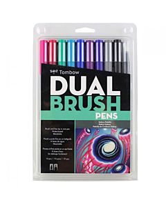 Tombow Dual Brush Pen 10 Galaxy Set