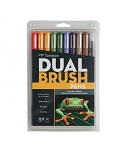 Tombow Dual Brush Pen 10 Color Secondary Set