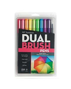 Tombow Dual Brush Pen 10 Color Bright Set