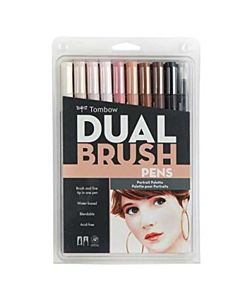 Tombow Dual Brush Pen 10 Color Portrait Set