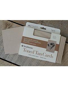 "Strathmore Toned Tan Card/Envelopes 10 Pack 5x6.875"""