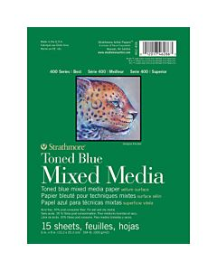Strathmore 400 Series Toned Blue Mix Media pad - 9x12
