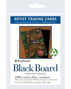 Strathmore Black Board Artist Trading Cards 1 Pack (10 Cards)
