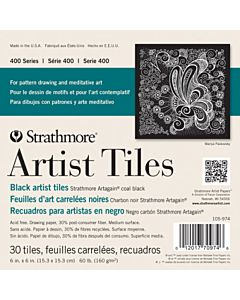 Strathmore Coal Black Tiles 30 Pack - 4x4