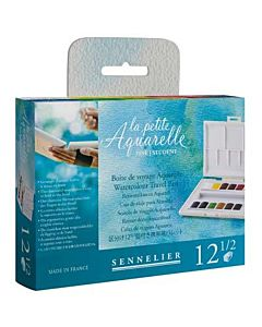 Sennelier La Petite Aquarelle 1/2 Pan 12 Color Set