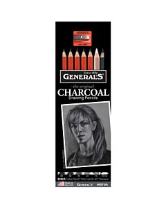General Pencil 8 Piece Charcoal Pencil Drawing Set
