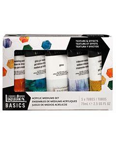 Liquitex Basics Medium Texture Set 5 tubes 75ml