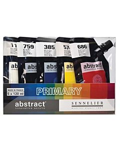 Sennelier Abstract Acrylic Primary Set - 5x120ml