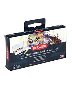 Derwent Inktense 12 Pan Watercolor Travel Set