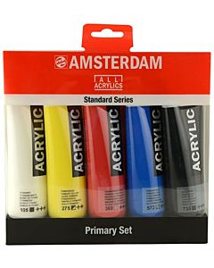 Amsterdam Standard Acrylic 5 Color 120ml Primary Set
