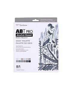 Tombow ABT Pro Markers - 12 Set Gray Colors