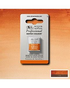 Winsor Newton Professional Watercolor - Half Pan - Burnt Sienna
