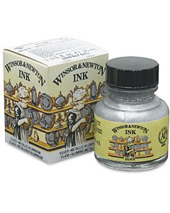 Winsor & Newton Ink 30ml Jar - Silver Ink